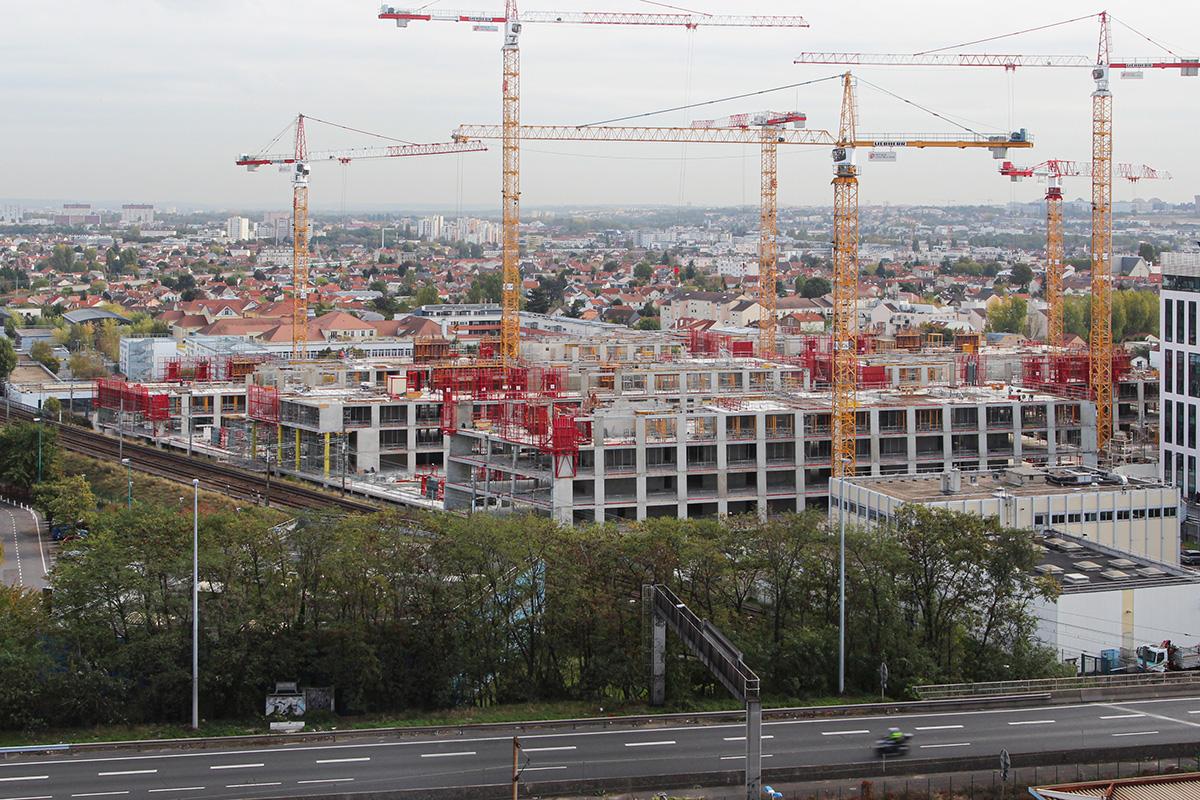 Timelapse du chantier Campus Société Générale