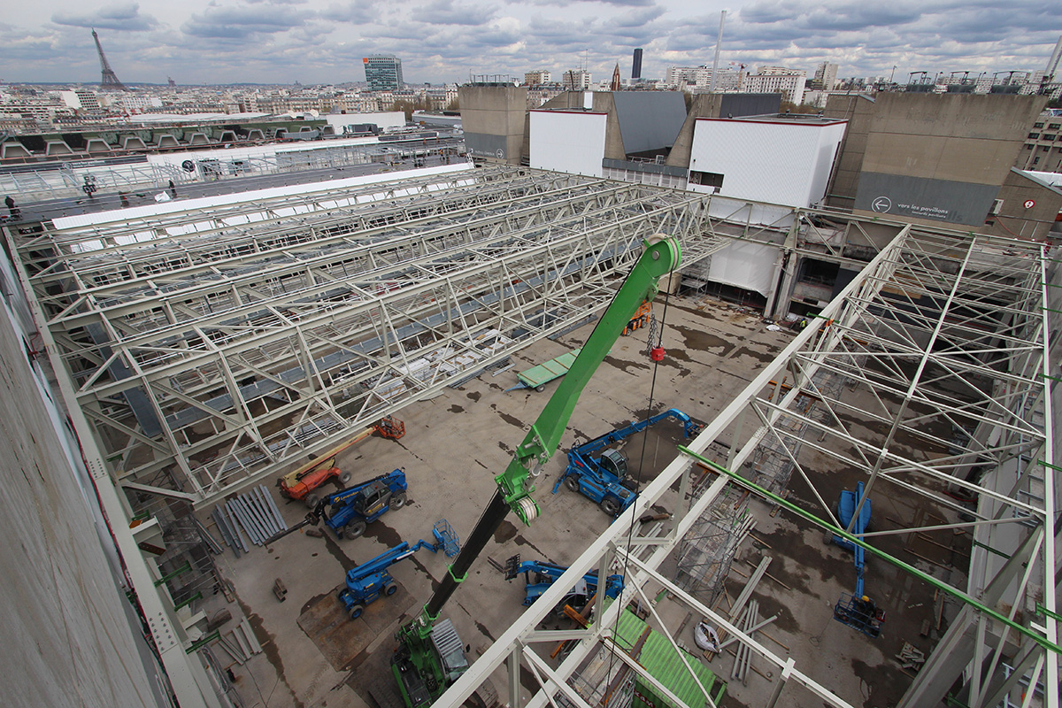 Time Lapse de la construction de Paris Expo Porte de Versailles