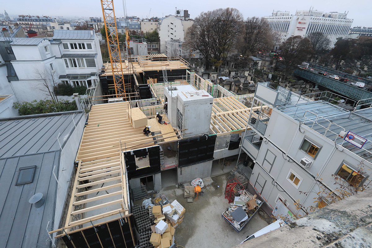 timelapse construction chantier bois