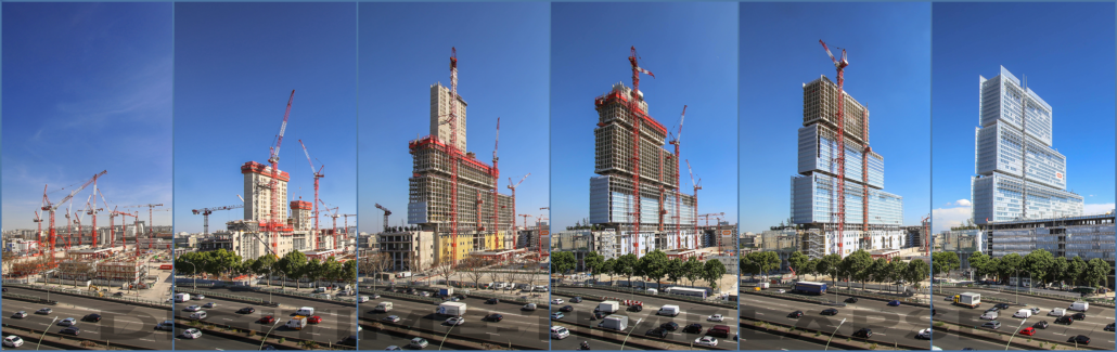 Time Lapse chantier Tribunal de Paris