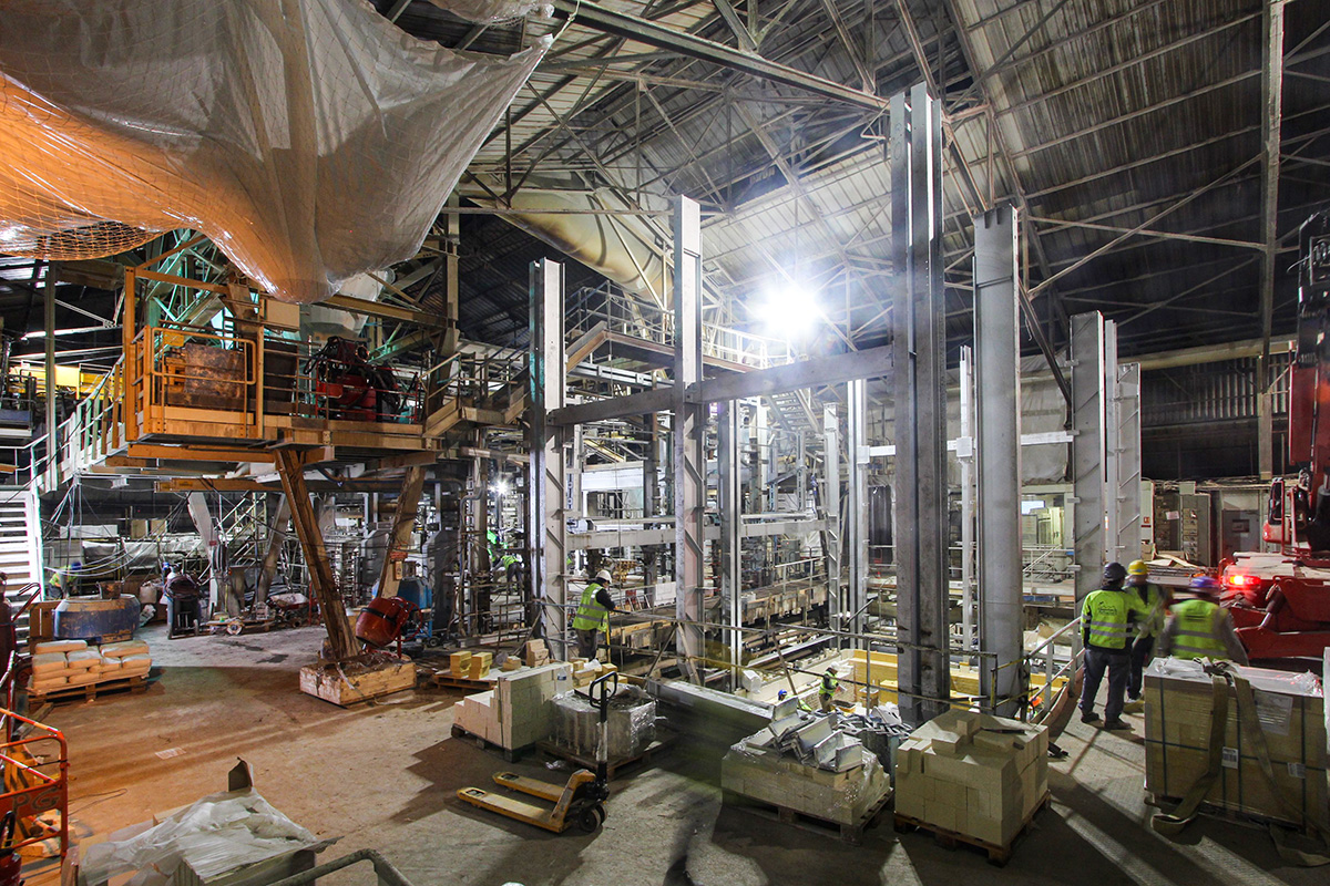 timelapse chantier usine