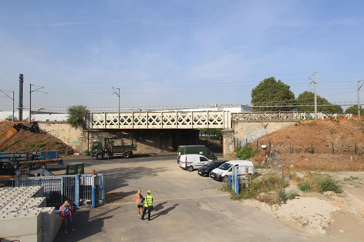 timelapse ripage pont rail